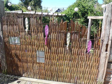 Zaun Aus Baustahlmatten sichtschutz aus baustahlmatte und weide mein garten