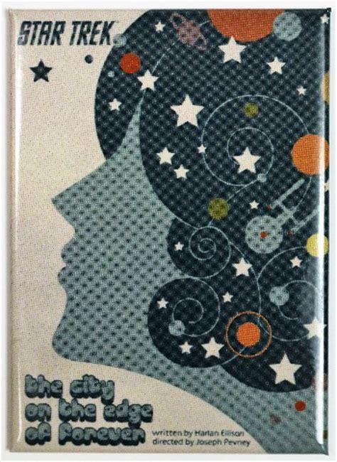 star trek  city   edge   fridge magnet  poster  spock captain kirk