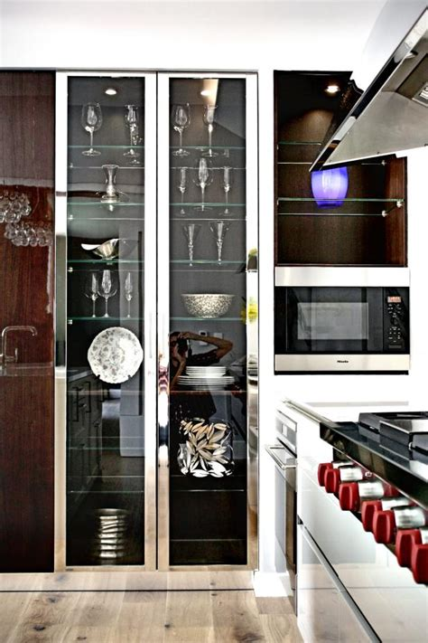 tall glass front cabinet photo page hgtv