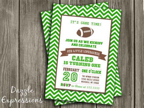 printable chevron football birthday invitation kids