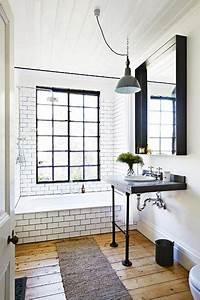Déco Salle De Bain Noir Et Blanc : id e d coration salle de bain ambiance r tro pour la d co d 39 une salle de bain blanc et noir ~ Melissatoandfro.com Idées de Décoration