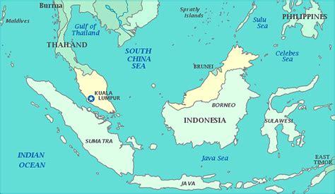 malaysia  china map
