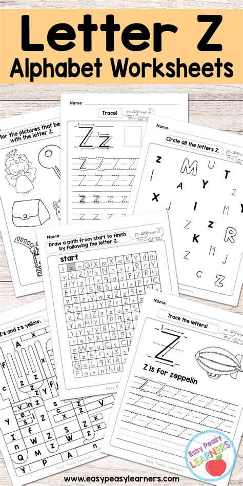 letter  worksheets alphabet series easy peasy learners