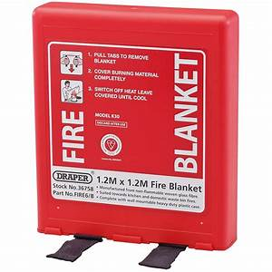 Draper 36758 FIRE6/B 1 2 x 1 2M Fire Blanket