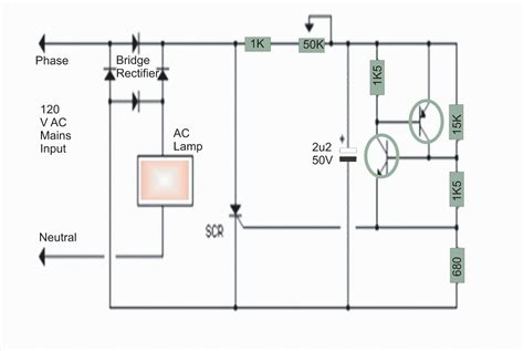 Electronics Projects Vac Lamp Dimmer Circuit