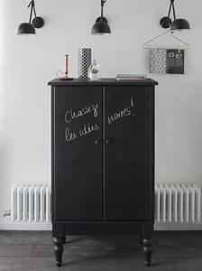 peinture a tableau noir pour repeindre un meuble With peindre un meuble en noir