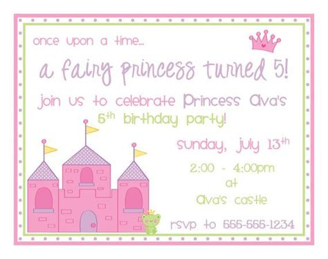 princess birthday party invitations   etsy