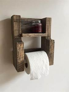 Rustic Reclaimed Wood Toilet Paper Holder — Gravity