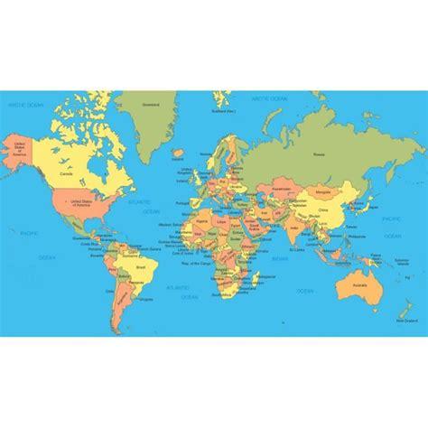 Carte Du Monde Avec Nom Des Pays Et Océans by Poster Affiche Carte 6 Monde Avec Nom Des Pays 60x105cm