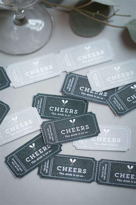 drink ticket printables simple film