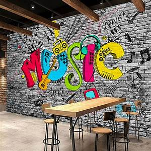 Online Buy Wholesale graffiti wall paper from China