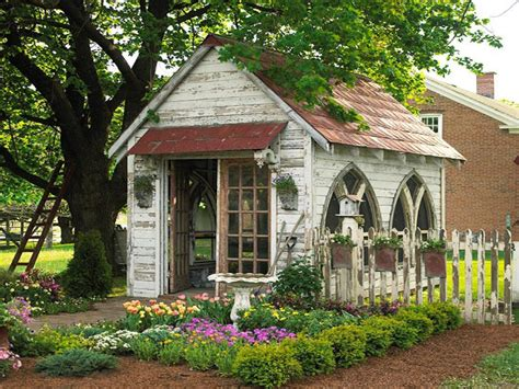 Homemade Garden Bench, Cottage Garden Sheds Garden Shed