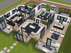 House 75 remodelled player designed house ground level for Sims 2 house decorating ideas