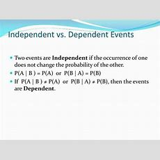 Ppt  Mutually Exclusive, Independent, Dependent, And Complementary Events Powerpoint