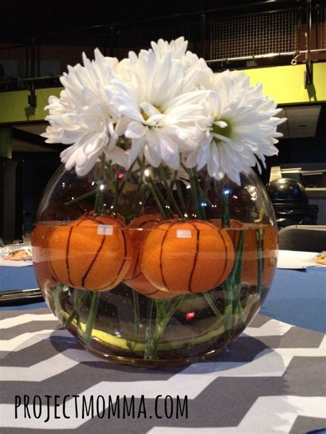 sports centerpieces for tables basketball centerpiece