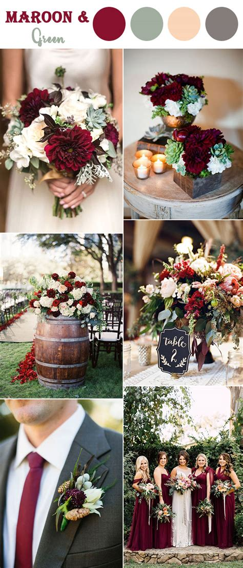wedding fall colors 8 fall wedding color combos to in 2017