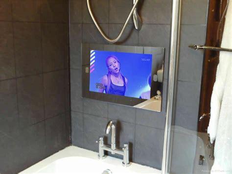Tv In The Bathroom Mirror by Bathroom Mirror With Tv Screen Home Design Ideas