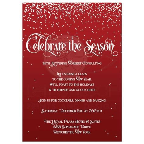 Holiday Party Invitation Celebrate the Season Red