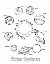 Solar System Coloring Pages Printable sketch template