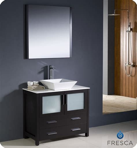 white vessel sink home depot fresca torino 36 quot espresso modern bathroom vanity vessel