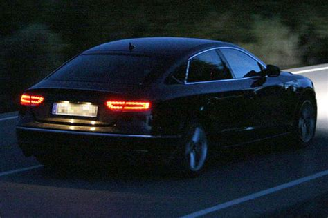 audi  sportback spied  night