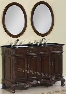 50 inch double vanity set ica furniture products With 50 inch double sink bathroom vanity