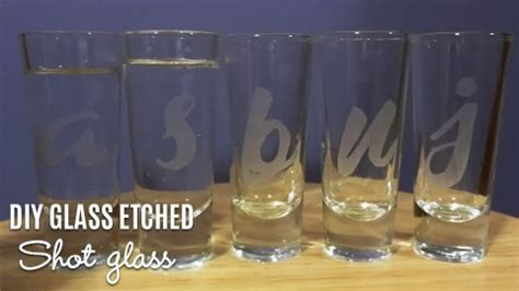 diy glass etched shot glasses