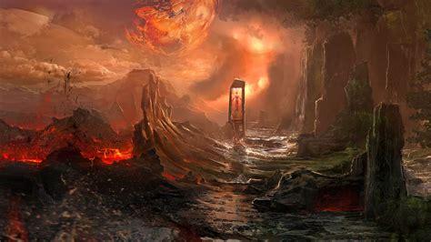 landscape fantasy dark magic wallpapers
