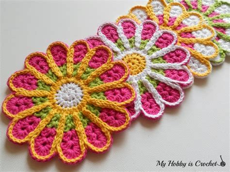 crochet coasters my hobby is crochet chrysanthemum flower coaster free crochet pattern review