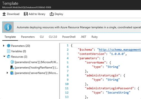 azure resource manager template export azure resource manager template microsoft docs