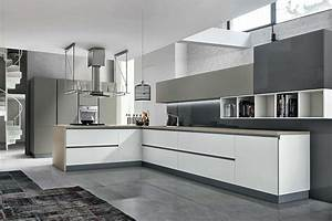 Cuisine Moderne Design : cuisine design blanc et taupe ~ Preciouscoupons.com Idées de Décoration