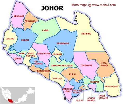 johor map direction  maps collection information