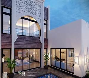 تصميم فيلا على الطراز الاسلامي   small villa with islamic ...