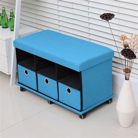 ottoman with drawers storage folding storage organizer ottoman bench stool seat
