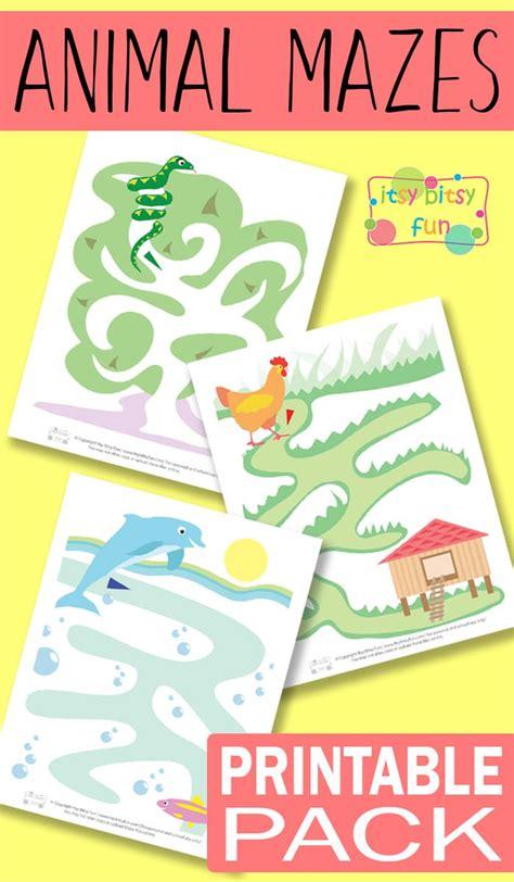 Printable Animal Mazes For Kids  Itsy Bitsy Fun