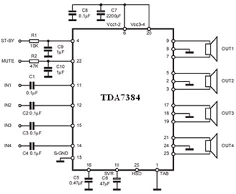 tda  watts car amplifier circuit electronics