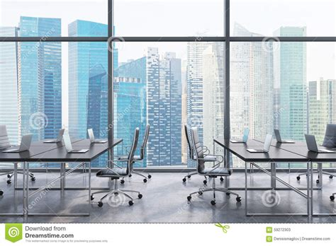 travailler dans un bureau lieux de travail dans un bureau panoramique moderne vue