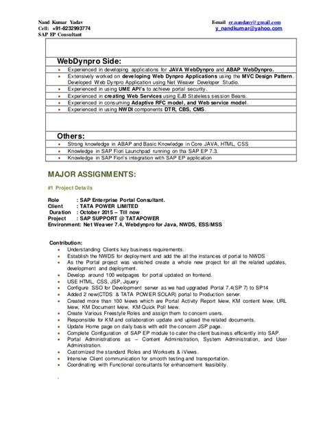 Abap Resume India by Resume