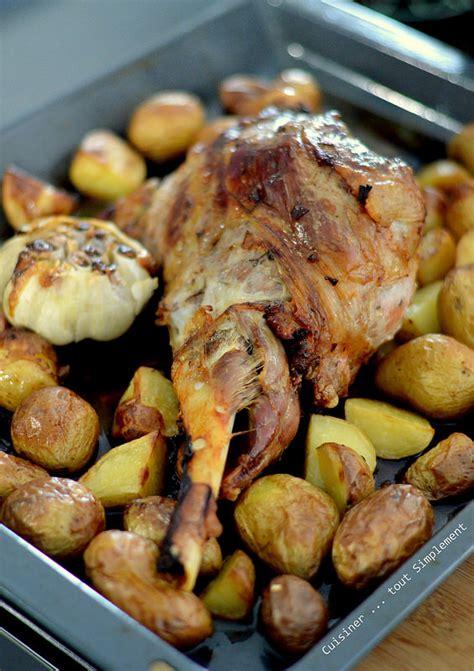 cuisiner au four gigot d 39 agneau au four cuisiner tout simplement le