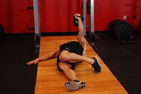 floor press arm kettlebell extended range exercises exercise enlarge male