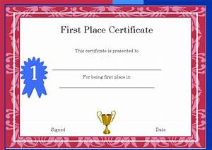 1st place certificate template free 28 images With 1st place certificate template free