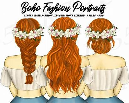Clipart Friends Hair Planner Hairstyles Boho Spring