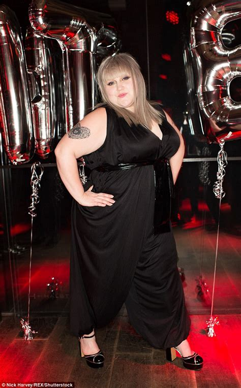 Beth Ditto debuts grey hair in jumpsuit while launching ...