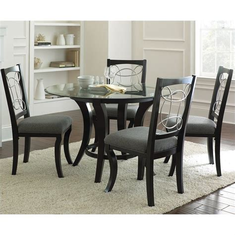 Steve Silver Company Cayman 5 Piece Round Dining Table Set