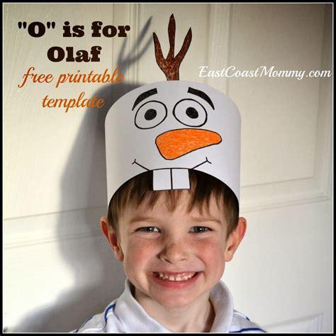 printable olaf hats allfreekidscraftscom