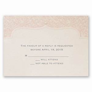 faded pink filigree response card and envelope With wedding invitation response card envelope size