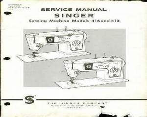 Singer Sewing Machine Service Manuals