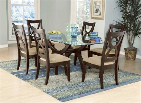 Attachment glass dining room table set (1066) - Diabelcissokho