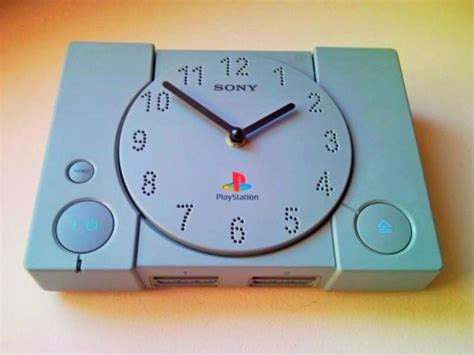 Console Template Psx by Recycle Playstation Ps1 Retro Video Game Console Wall Clock 2