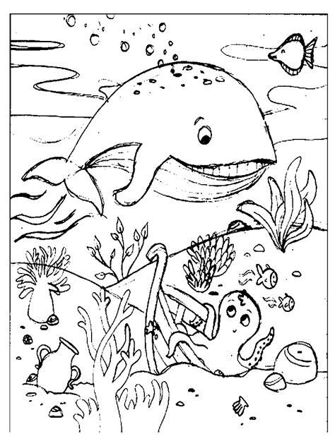 animali da colorare la balena
